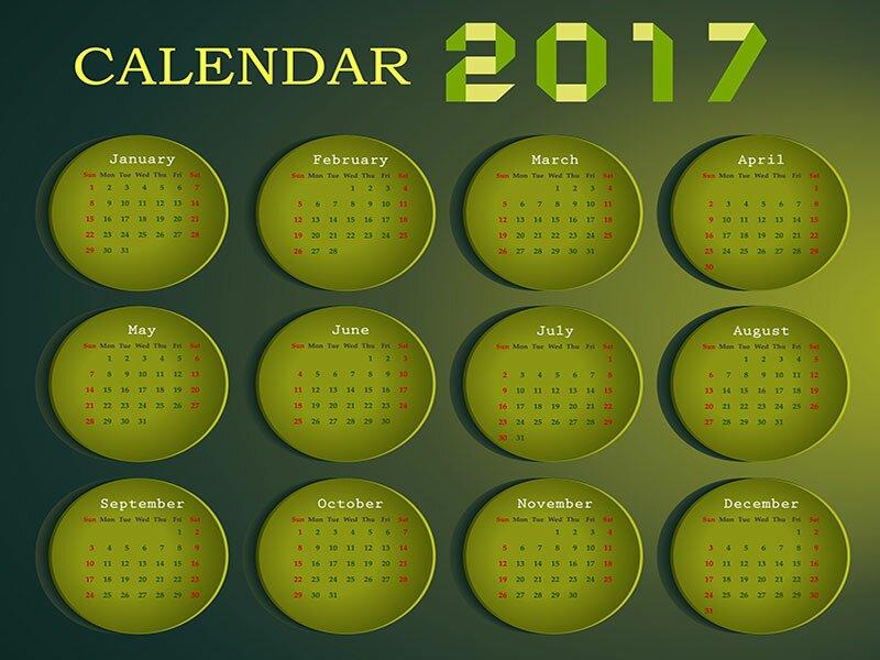 Календари в векторе