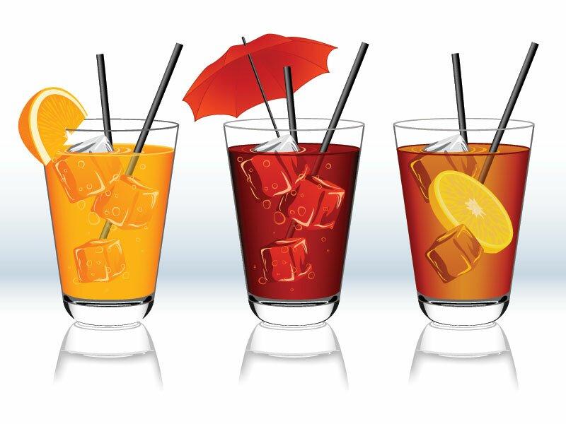 Напитки в векторе