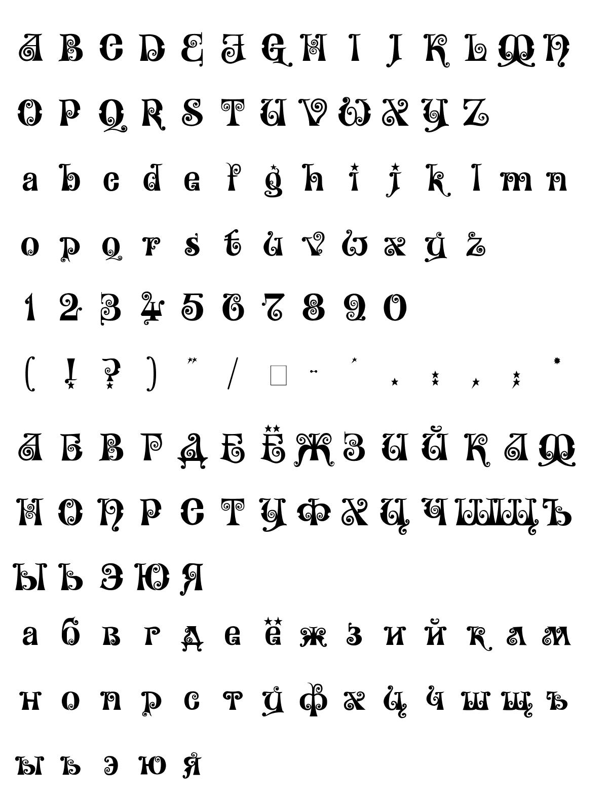 Шрифт Wonderland